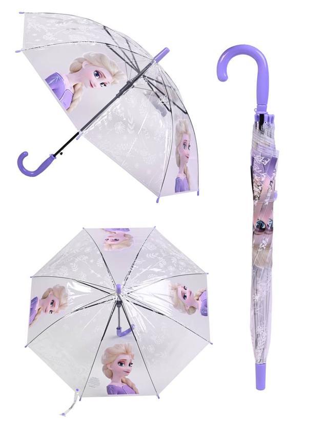 Детский прозрачный зонтик с  мультгероем Эльзой  фото