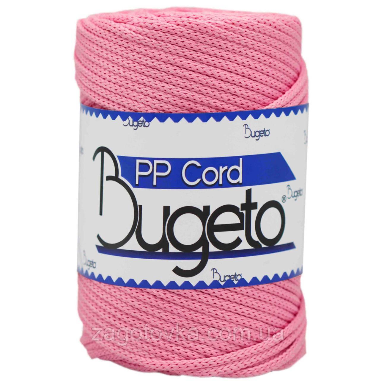 Шнур поліпропіленовий Bugeto PP Cord 5mm, колір Рожевий