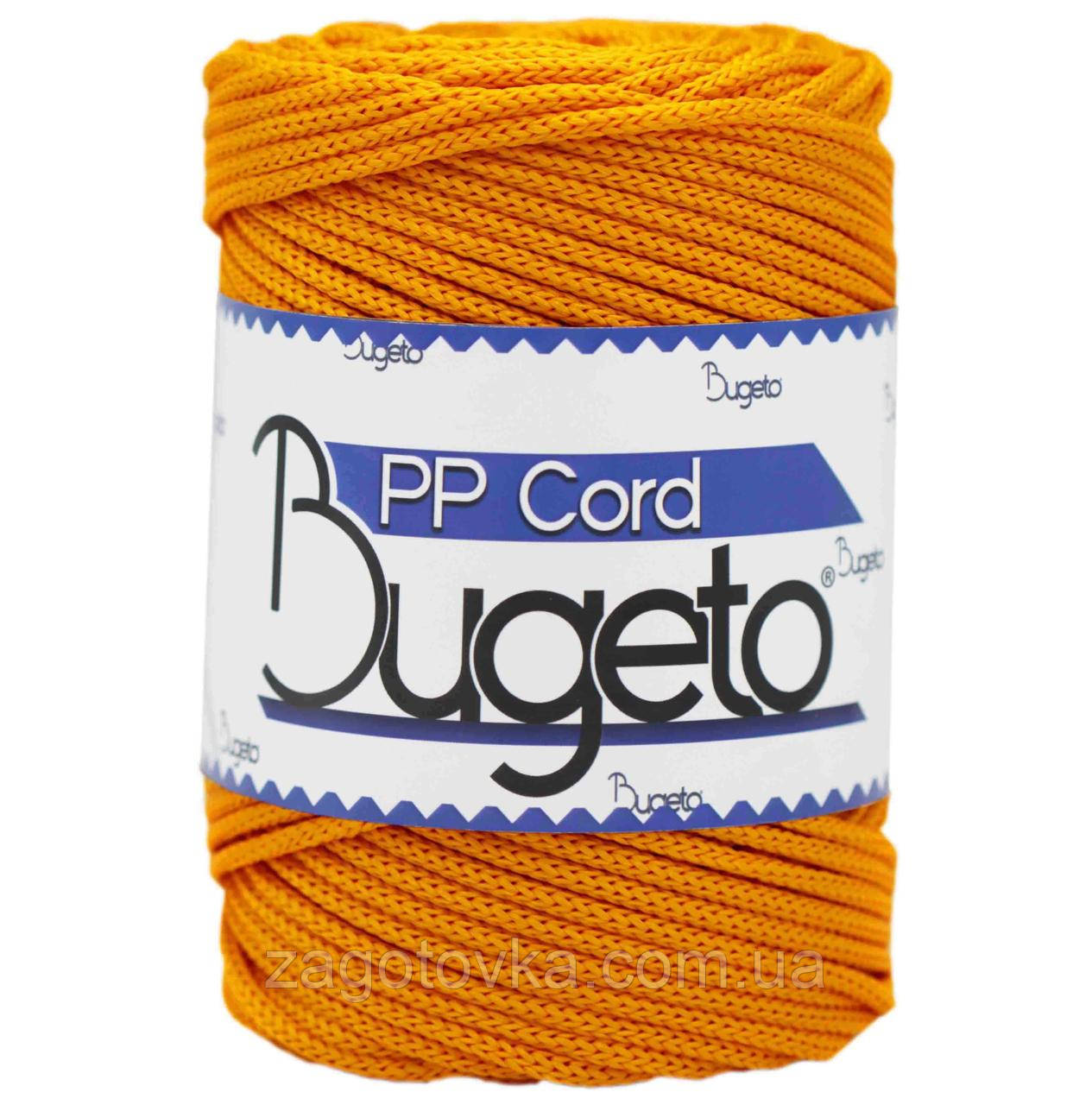 Полипропиленовый шнур Bugeto PP Cord 5mm, Оранжево-желтый
