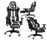 Компьютерное кресло для геймеров крісло геймерське ZANO DRAGON WHITE