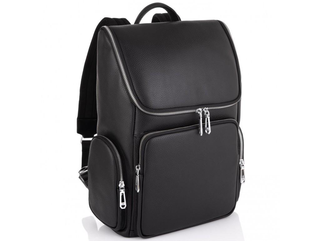 Шкіряний чоловічий рюкзак Tiding Bag N2-191228-3A Чорний