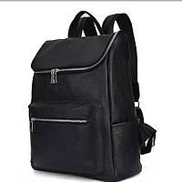 Мужской кожаный рюкзак для ноутбука и поездок Черный, мужские кожаные рюкзаки