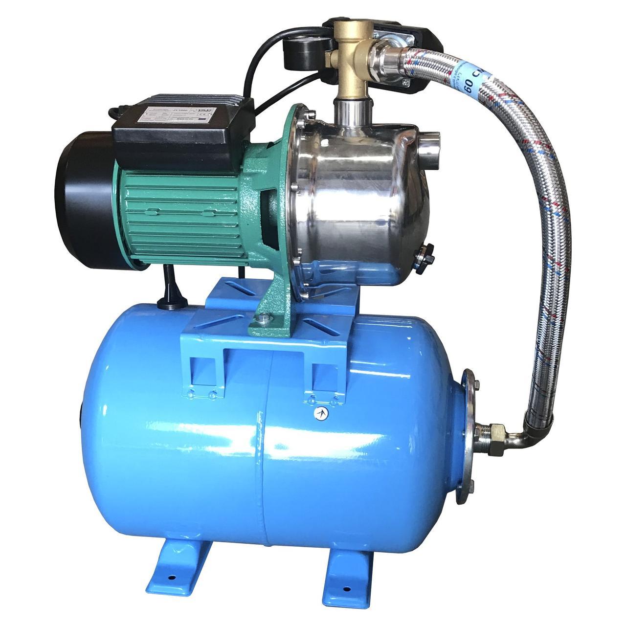 Насосна станція VOLKS pumpe JY1000-24 1,1 кВт нержавійка(в зборі) на Гребінці