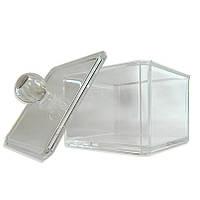Акриловы контейнер с крышкой для гигиенических принадлежностей