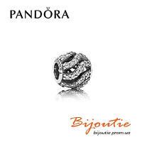 Pandora подвеска-шарм ИГРИСТЫЕ ВОЛНЫ 791197CZ серебро 925 Пандора оригинал