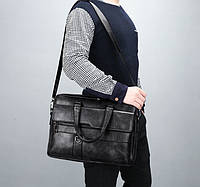 Мужская сумка для ноутбука Jeep эко кожа портфель для планшета документов папок А4