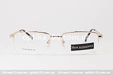 Металева універсальна оправа для окулярів «Моя класика» 30029. Полуободковая, фото 2