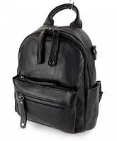 Кожаный женский рюкзак чёрный / женские рюкзаки / кожаные рюкзаки