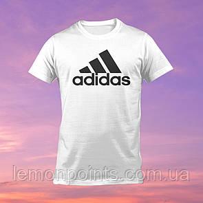 Футболка мужская спортивная Adidas белая