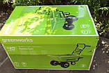 Садовий візок самохідний акумуляторний Greenworks G40GCК4 безщітковий з АКБ 4 Аг та ЗП, фото 7