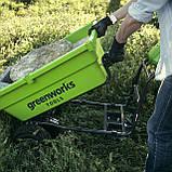 Садовий візок самохідний акумуляторний Greenworks G40GCК4 безщітковий з АКБ 4 Аг та ЗП, фото 5