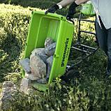 Садовий візок самохідний акумуляторний Greenworks G40GCК4 безщітковий з АКБ 4 Аг та ЗП, фото 6