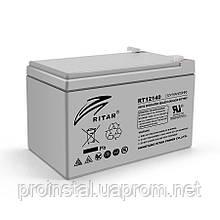 Аккумуляторная свинцово-кислотная батарея AGM RITAR RT12140H Gray Case 12V 14.0Ah Q4