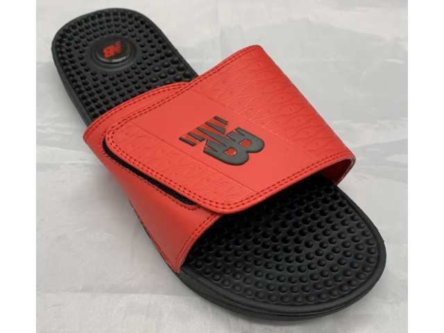 Шлепки * New Balance 6728-2 черный/красный