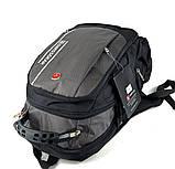Городской рюкзак Swissgear 46 x 31 x 23 см Черный c серым (sw1792), фото 3