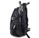 Городской рюкзак Swissgear 46 x 31 x 23 см Черный c серым (sw1792), фото 5