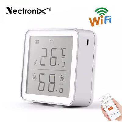 Wifi термометр гигрометр комнатный с датчиком температуры и влажности Nectronix TG-12w, приложение Tuya для