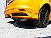 Накладки на задний бампер Ford Focus MK3 ST дорест.