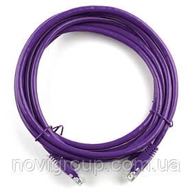 Патч-корд литий RITAR, UTP, RJ45, Cat.5e, 10m, фіолетовий, Cu (мідь)