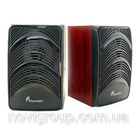 Колонки 2.0 Hotmai A10 USB + 3.5 mm, 2x3W, 20Hz - 18KHz, з регулятором гучності, Black, BOX, Q24