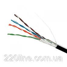 ElectroHouse Кабель вита пара FTP 4х2х0,51 CCA (зовніш. Монтаж) ПЕ чорний