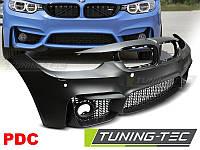 Бампер передний BMW 3 F30 M3 стиль (с вырезами для парктроников)