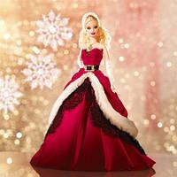 Коллекционная Кукла Барби Блондинка 2007 года Праздничная Рождественская Barbie Holiday Blonde Collector, фото 1