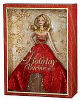 Колекційна Лялька Барбі Різдво Холідей Блондинка Barbie Doll Holiday 2014 року, фото 1
