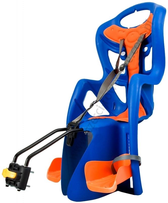 Велокресло Bellelli Pepe Италия на раму relax с откидной спинкой синий