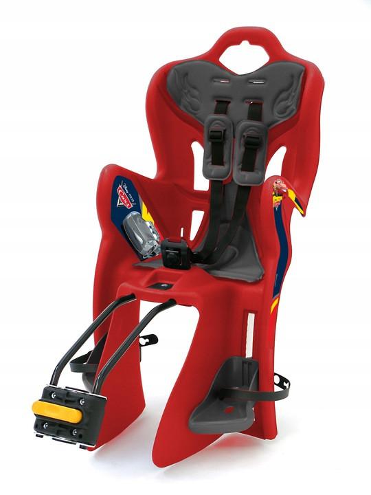 Велокрісло Bellelli B1 Disney Cars Італія на раму relax з відкидною спинкою червоний