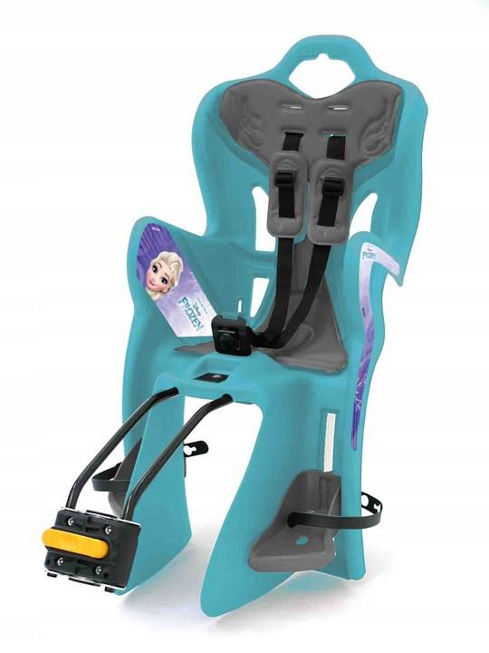 Велокресло Bellelli B1 Disney Frozen Италия clamp на багажник бирюзовый