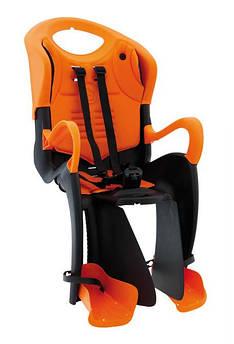Велокресло Bellelli Tiger с подвижной спинкой Италия clamp на багажник оранжевый
