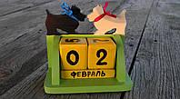 """Настольный календарь с кубиками """"скотч-терьер"""""""