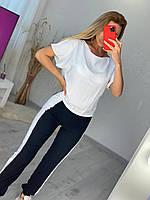 """Спортивний костюм жіночий молодіжний з лампасами раз.S-XL(2цв)""""MARGARET"""" купити недорого від прямого постачальника"""