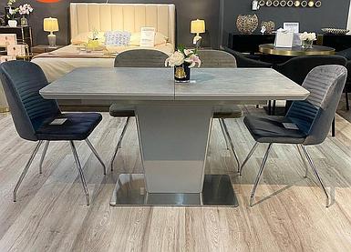 Стол раскладной Паскаль 140-180*80 см светло-серый ТМ Prestol