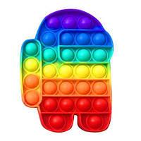 Сенсорная игрушка антистресс Амонг АС Pop It Поп Ит Пупырышки антистресс