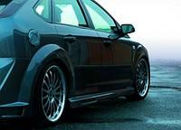 Накладки на пороги Ford Focus mk2