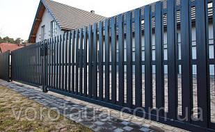 Ворота и заборы с заполнением штакетником