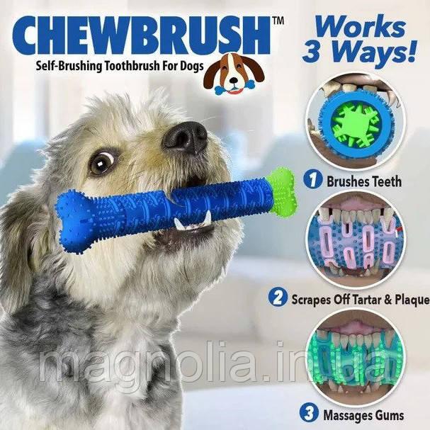 Зубна щітка для собак ChewBrush