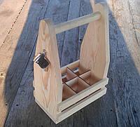 Ящик деревянный для бутылок 0,33 л.