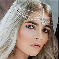 Прекрасная тика (украшение) на голову Капелька (серебро) №21