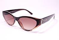 Жіночі сонцезахисні окуляри лисички Селін 2131 C2 репліка Коричневі з градієнтом