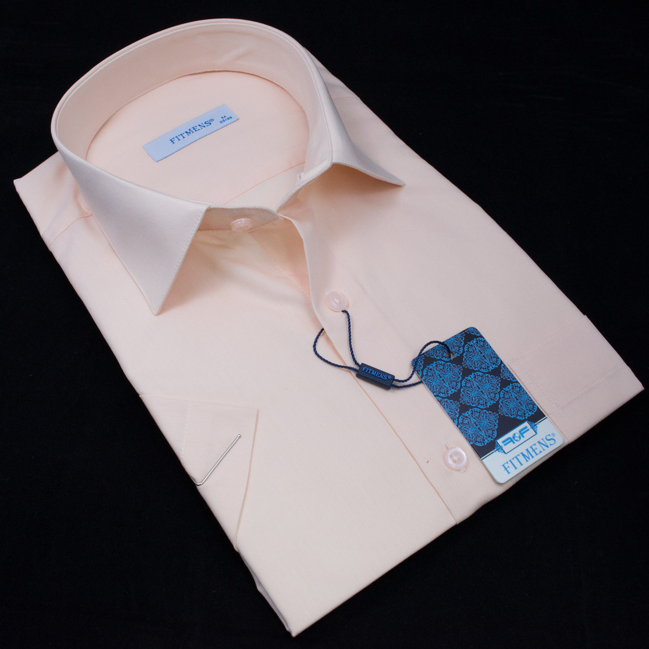 Сорочка чоловіча, прямого покрою, з коротким рукавом FITMENS/PASHAMEN KP.E.23025 80% бавовна 20% поліестер