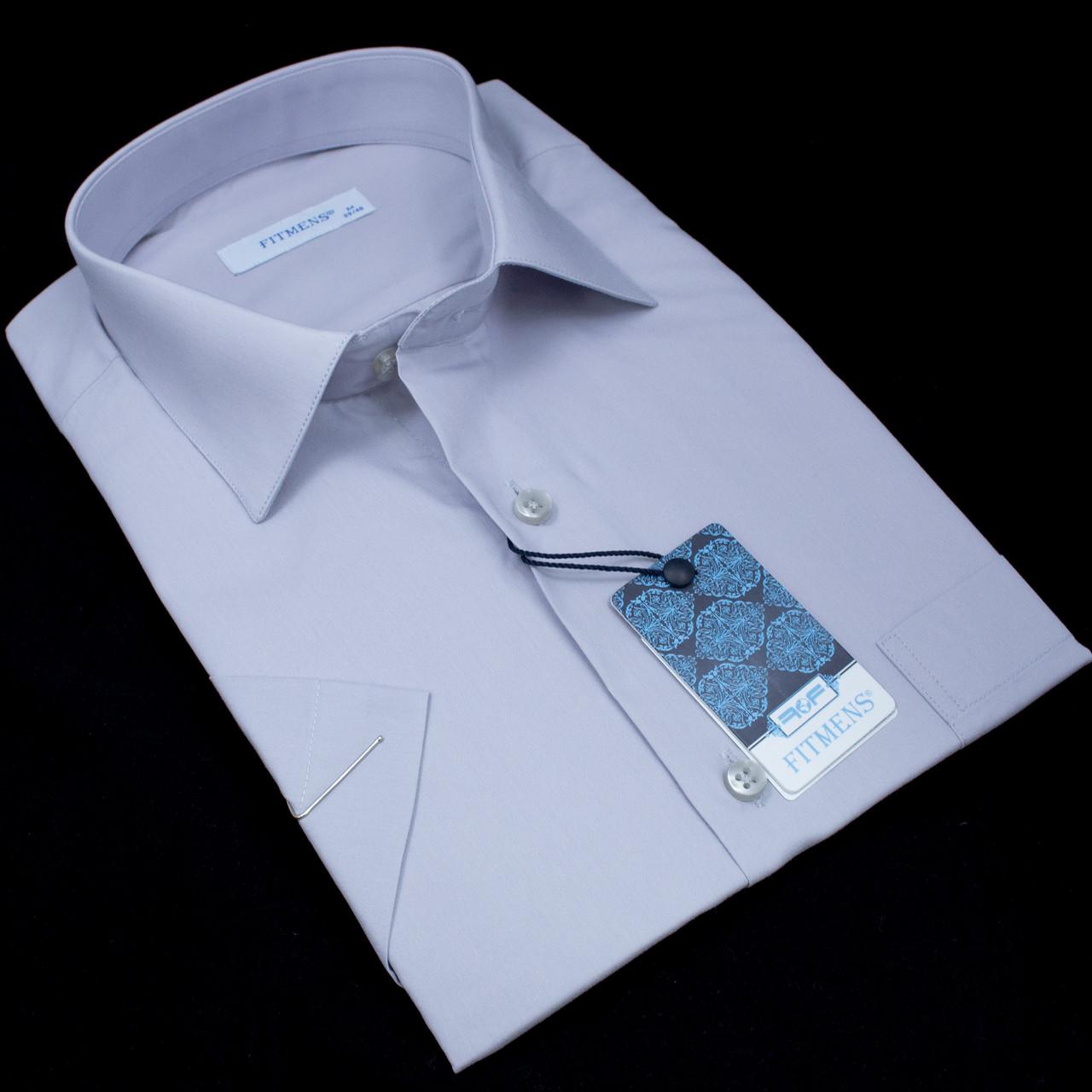 Сорочка чоловіча, прямого крою, з коротким рукавом FITMENS/PASHAMEN KP.E.00001 80% бавовна 20% поліестер