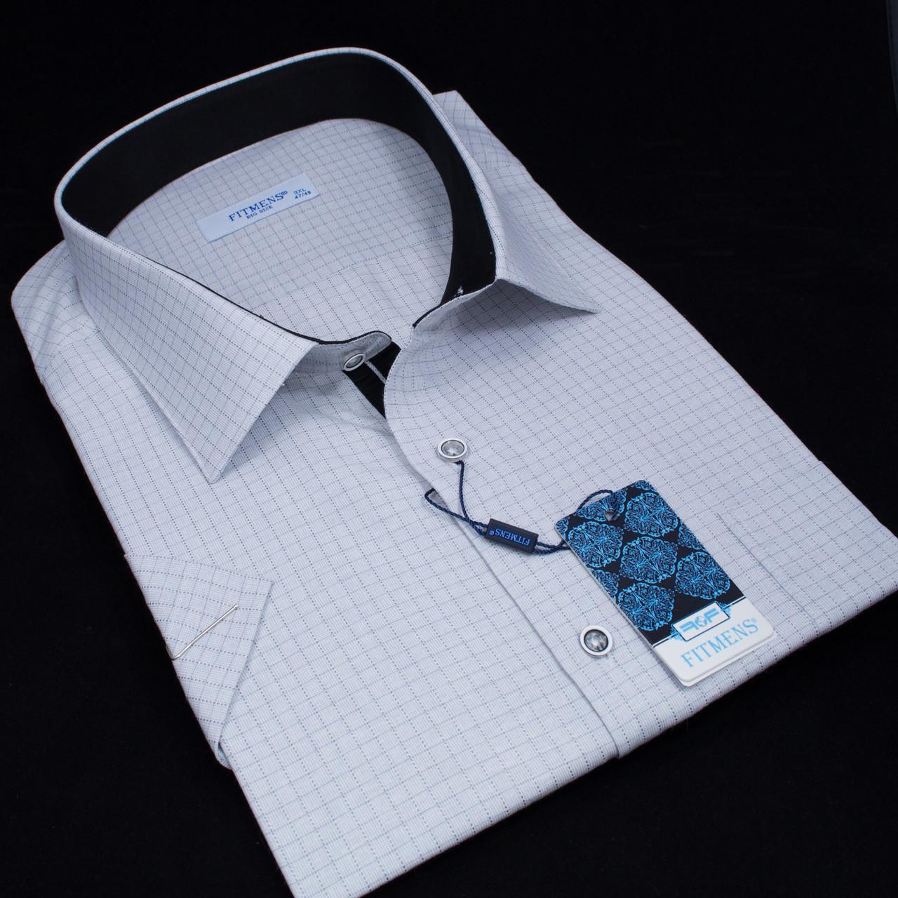 Сорочка чоловіча, прямого покрою, з коротким рукавом FITMENS/PASHAMEN KP.E.2083-04 100% бавовна 4XL(Р)