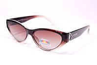 Жіночі сонцезахисні окуляри лисички Селін P2131 C2 репліка Коричневі з поляризацією