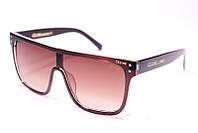 Жіночі сонцезахисні квадратні окуляри Селін 32106 C2 репліка Коричневі