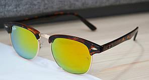 Солнцезащитные очки Ray Ban Clubmaster RB 3016 56-17-135 Yellow
