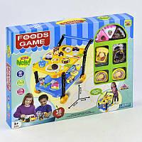 """Игровой набор """"""""Сладости"""""""" 36778-86 (24) с сервировочным столиком, продукты на липучках, в коробке"""