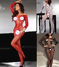 Еротична білизна. Сексуальний комплект Еротичний боді комбінезон Passion ( 54 розмір розмір XL )